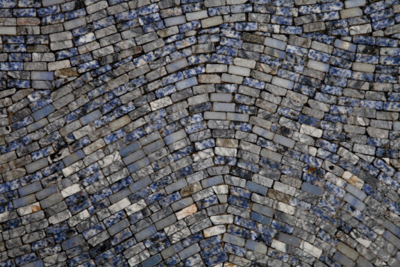 Cool Colored Stones in a Mosaic