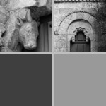 Corbels decorated with animals photographs