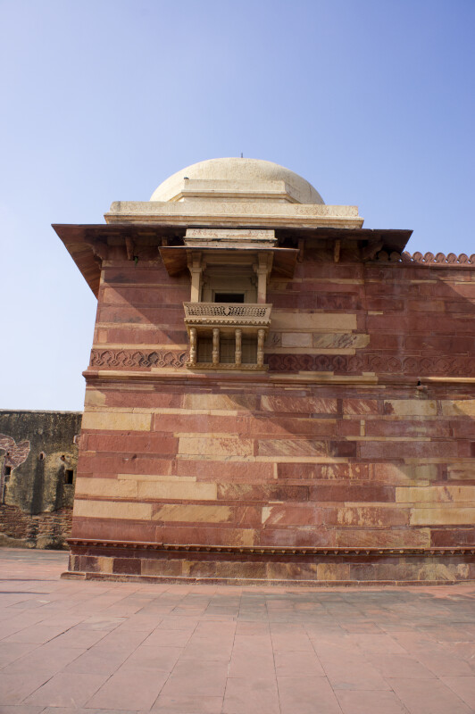 Corner of Jodha Bai's Palace Wall