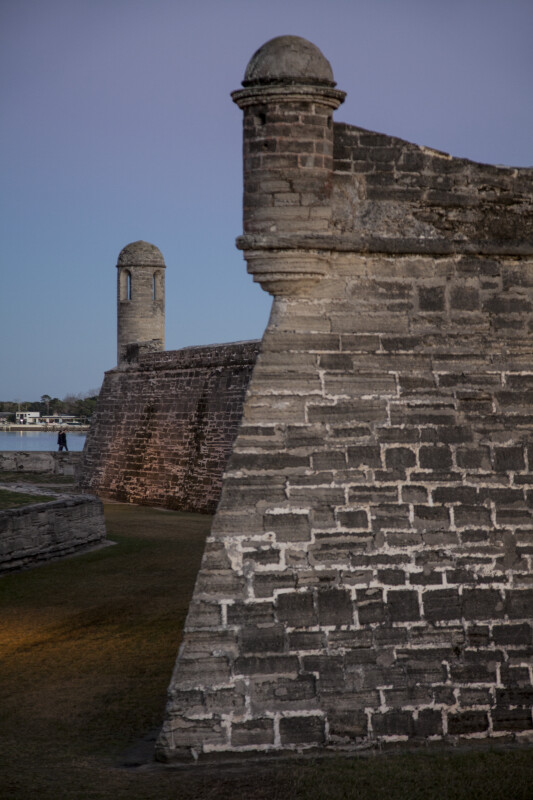 Corners of the Northwest and Northeast Bastions of Castillo de San Marcos
