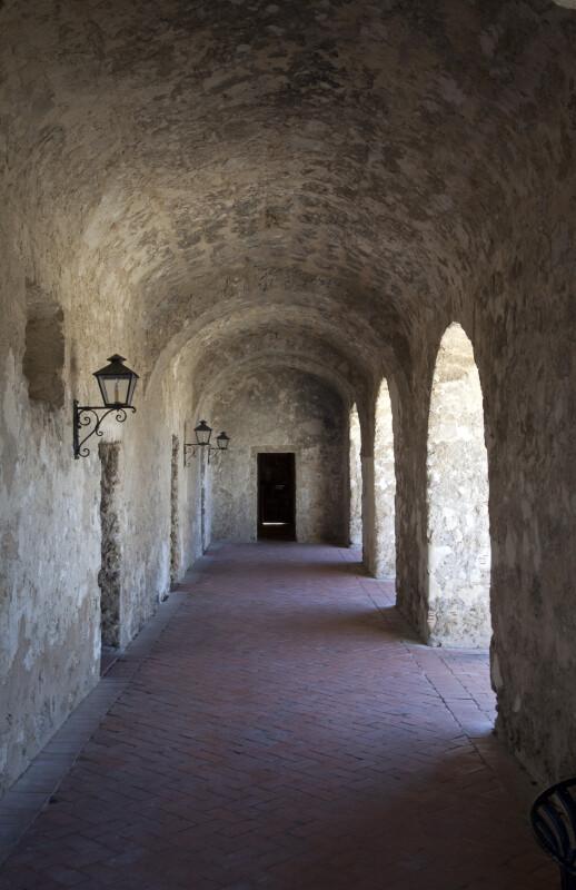 Corridor of the Convento at Mission Concepción