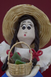 Costa Rica - Girl with Coffee Beans in Basket (Close Up)