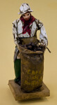 Costa Rica Male Figurine Made with Papier Mache Holding a Sack of Coffee Beans (Full View)