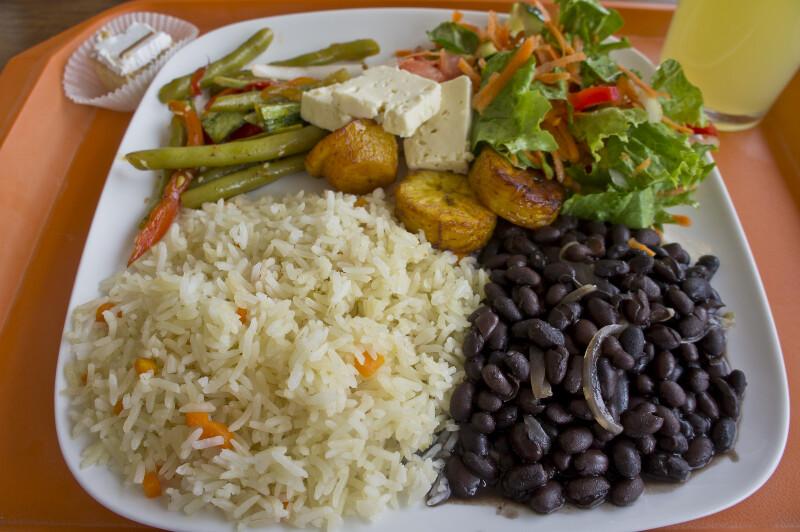 Costa Rican Vegetarian Casado