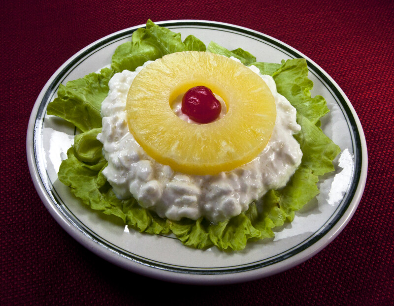 Cottage Cheese With Pineapple Ring
