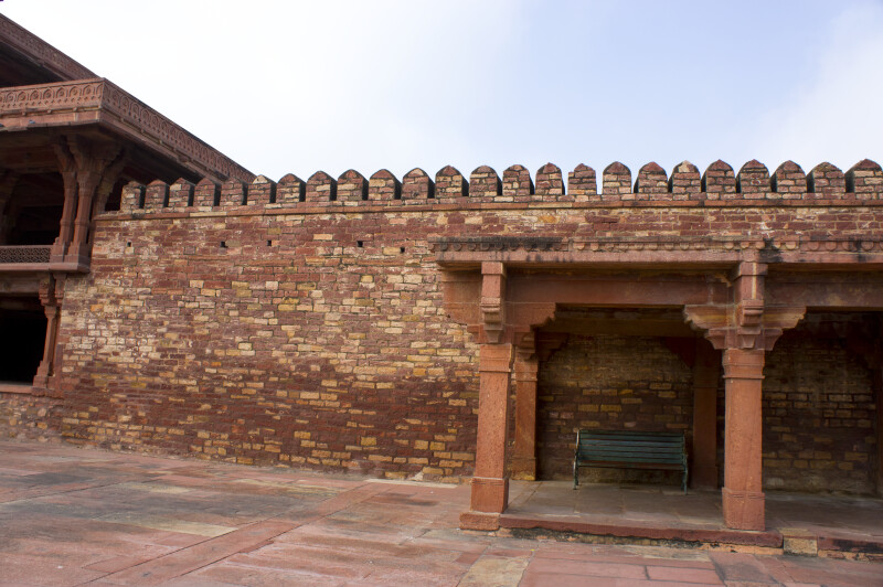 Covered Bench by the Panch Mahal