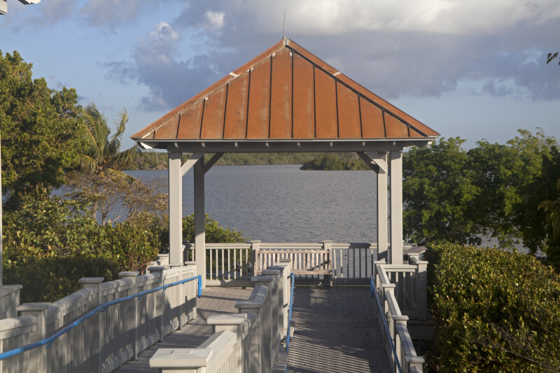 Covered Outpost Overlooking Water at Biscayne National Park