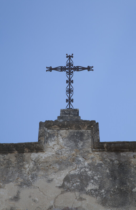 Cross Atop the Mission Concepción Church