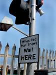 Cross Walk Road Sign