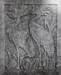 Crowned Crane Relief