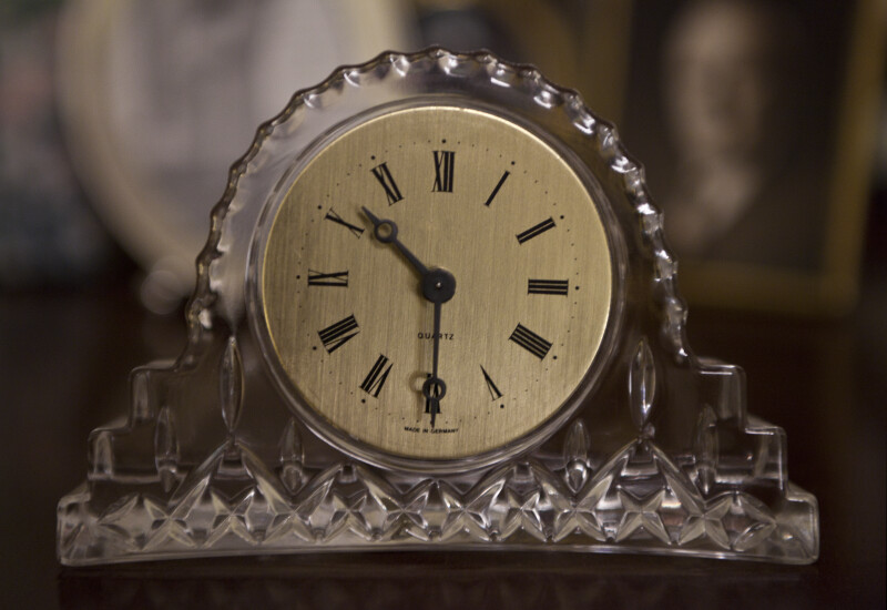 Crystal Clock Showing 10:30