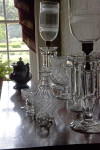Crystal Lamps, Bowls, Stemware, and a Decanter