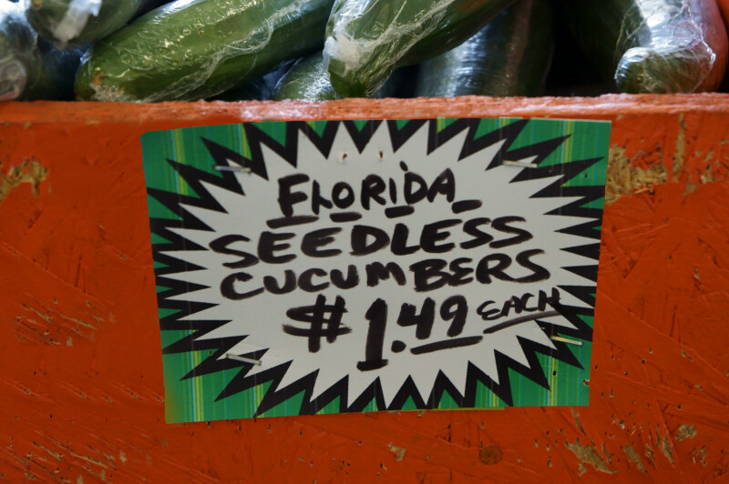 Cucumbers Are $1.49 Each