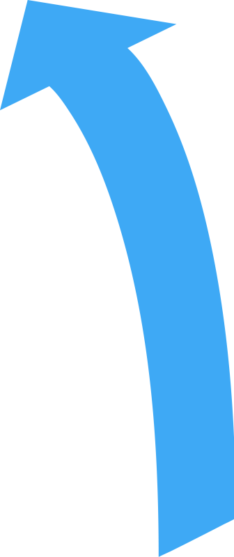 Curved Directional Arrow Pointing Up