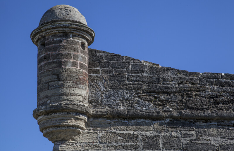 Cylindrical, Domed Turret at Castillo de San Marcos