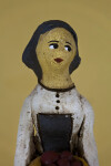 Cyprus Lady Doll Made from Rough Clay/Ceramics with Hand Painted Features (Close Up)