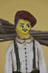 Cyprus Male Figure Made from Rough Clay/Ceramics with Hand Painted Features  (Close Up)