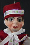 Czech Republic Male Marionette Wearing Traditional Costume and Hat (Close Up)