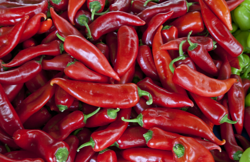 Dark-Red Chilies