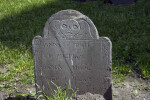 Death's Head Carve on a Tablet Headstone