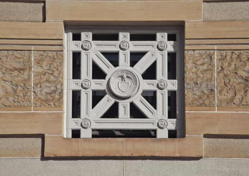 Decorative Window at Soliders and Sailors' Memorial Hall