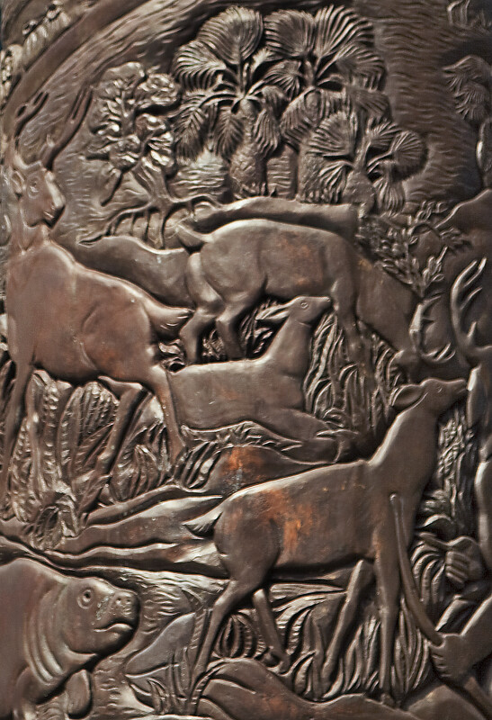 Deer and Manatees in Bronze