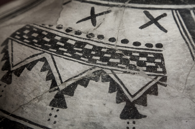 Detail of Black-on-White Jar Motif