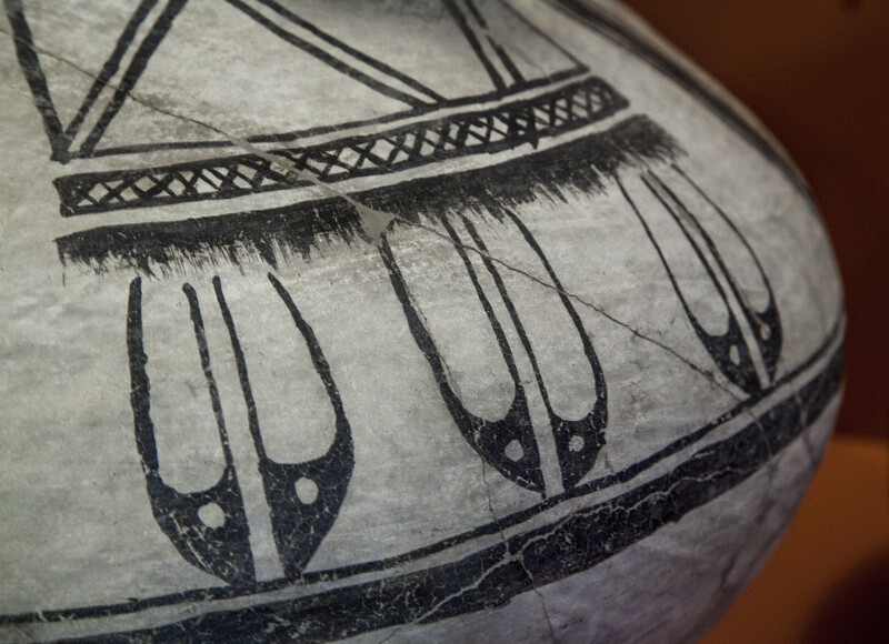 Detail of Chupadero Black-on-White Jar