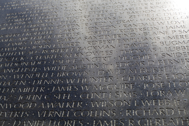 Detail of Memorial Wall