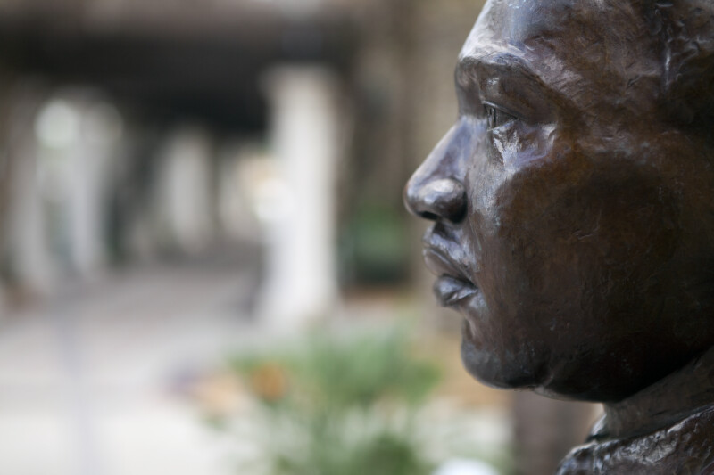 Detail of MLK Bust