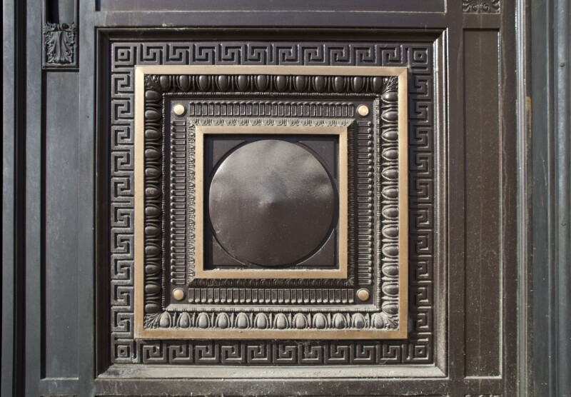 Detail of Square on Door at the Soldiers and Sailors' Memorial Hall