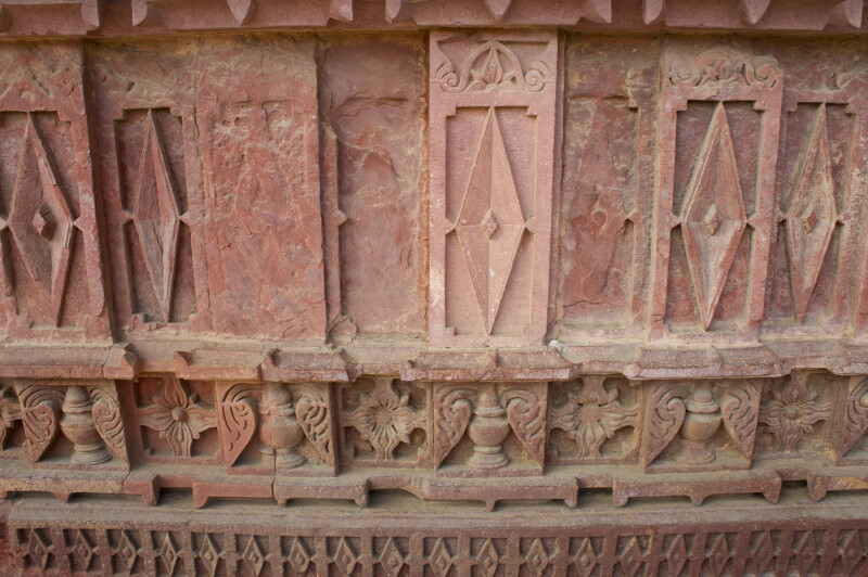 Diamond Shaped Carvings in Wall