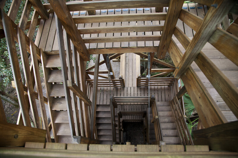 Different Levels of Stairs at Myakka River State Park