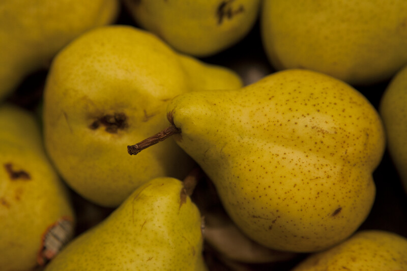 Display of Bartlett Pears