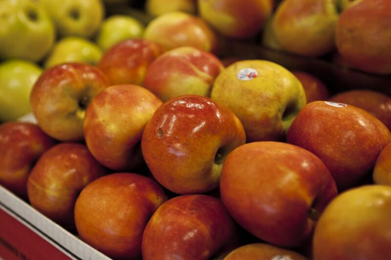 Display of Fuji Apples
