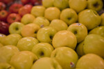Display of Golden Delicious Apples