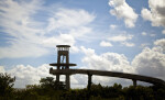 Distant View of a Lookout Tower at Shark Valley of Everglades National Park