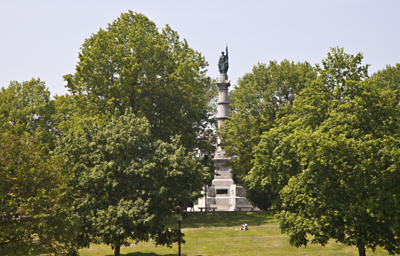 Distant View of the Soldiers and Sailors Monument at Boston Common
