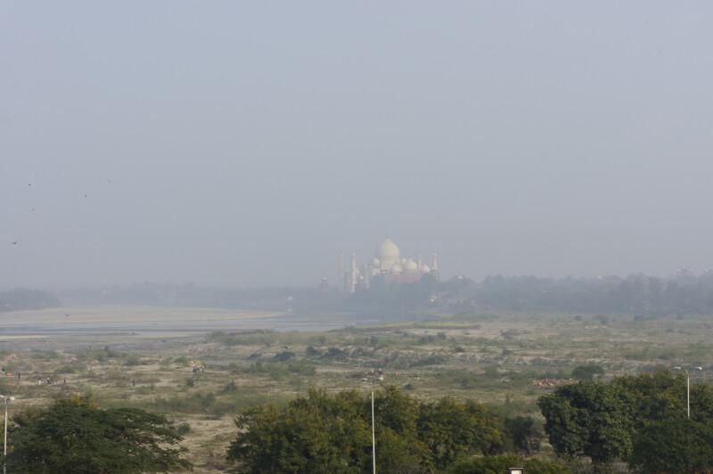 Distant View of the Taj Mahal