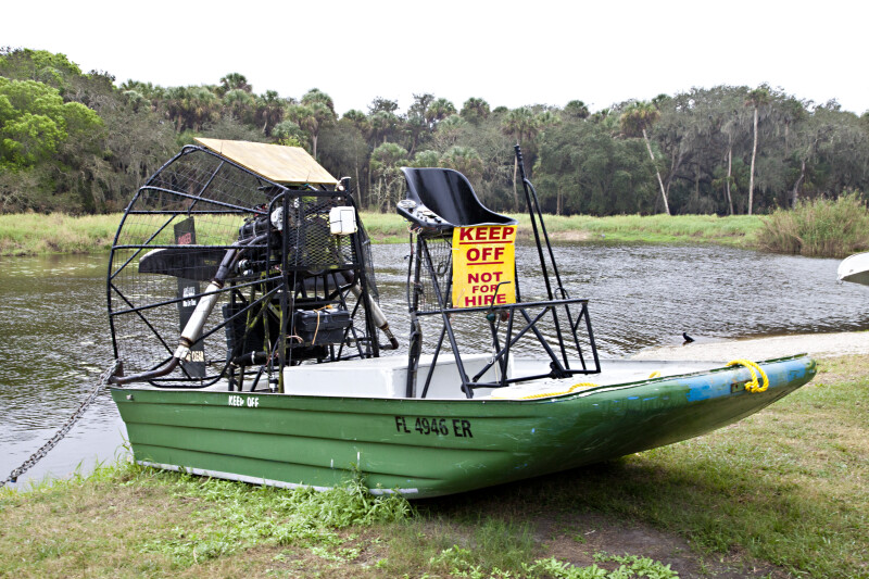 Docked Air Boat at Myakka River State Park