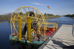 Docked Airboat at Big Cypress National Preserve