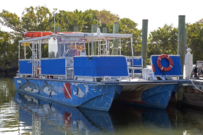Docked Ferry at Biscayne National Park