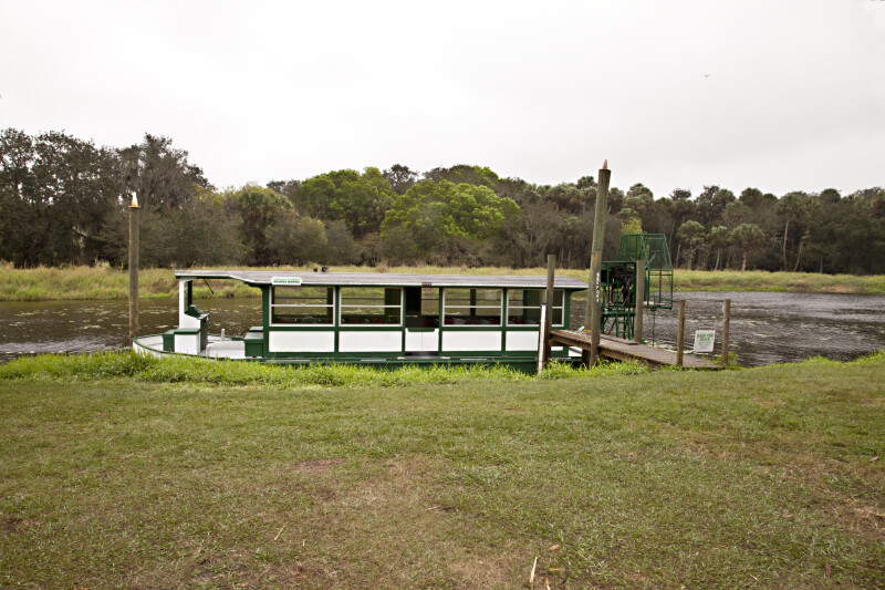 Docked Ferry at Myakka River State Park