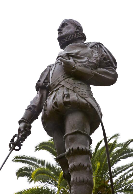 Don Pedro Menendez de Aviles Holds His Hat in His Left Hand