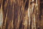 Door Painted in Brown Streaks Close-Up