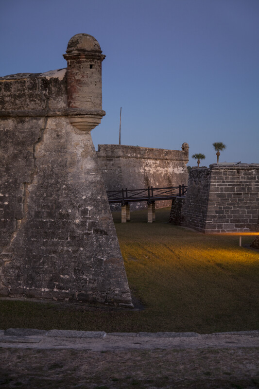 Drawbridge of Castillo de San Marcos Between its Southwest and Southeast Corners