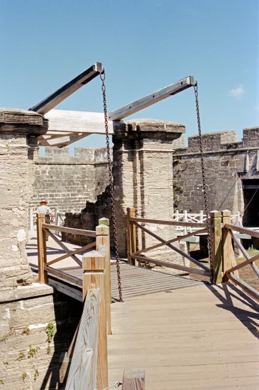 Drawbridge of the Ravelin at Castillo de San marcos