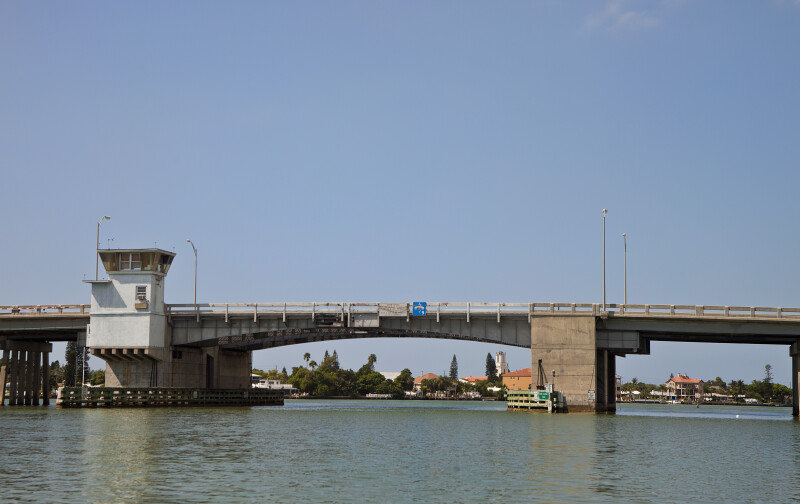 Drawbridge on Intracoastal Waterway