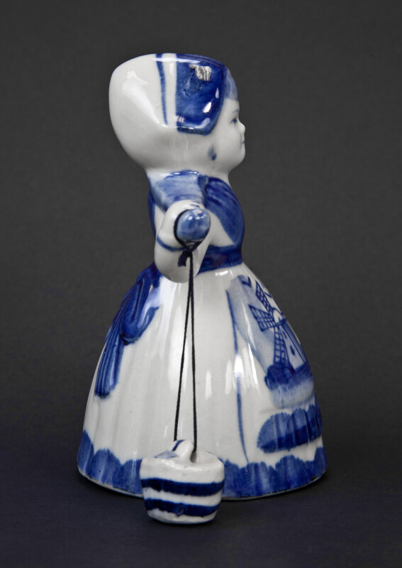 Netherlands Dutch Milk Maid in Delft Pottery (Profile View)