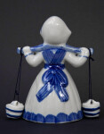 Netherlands Dutch Milkmaid in Delft China (Back View)